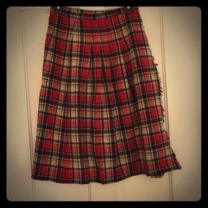 Vintage Plaid Wrap skirt